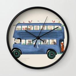 the big blue bus Wall Clock