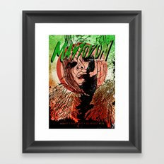 Mastodon Live in Berlin in Green and Red Framed Art Print