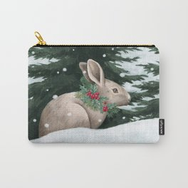 Winter Bunny Carry-All Pouch