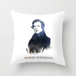 Robert Schumann Throw Pillow