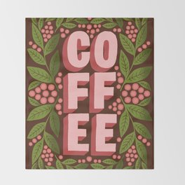 coffee cherries Throw Blanket