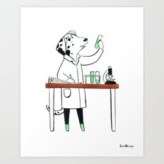 Dalmatian Biologist (Dogs with Jobs series) Art Print