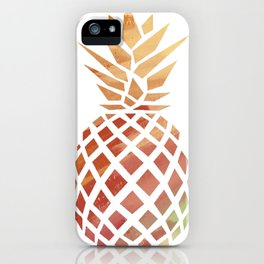Tropical Pineapple Coral iPhone Case