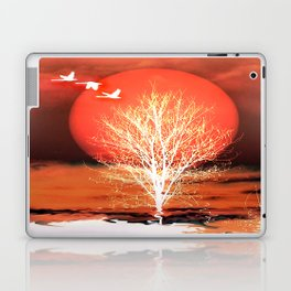 Sun in red Laptop & iPad Skin