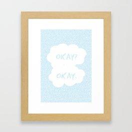 TFIOS - Okay (blue) Framed Art Print