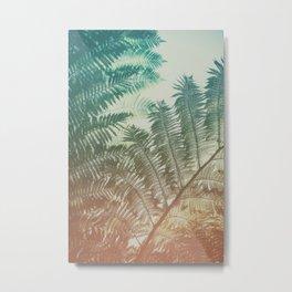 Colorful Fern Metal Print