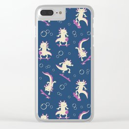 To the Maxolotl - Blue & Violet Clear iPhone Case