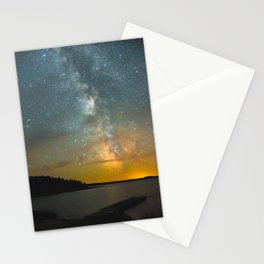 Milky Way Galaxy in Manitoba Stationery Cards