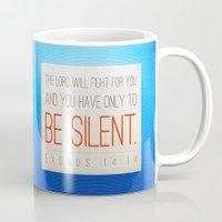 silent hill Mugs featuring SILENT by Peter Gross