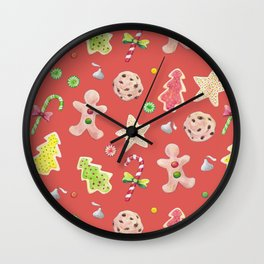 Holiday Treats Wall Clock