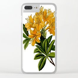 Herbal Flowers Clear iPhone Case