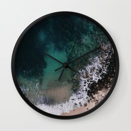 ocean blues Wall Clock