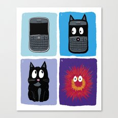Don't Let Your BlackBerry Turn into Exploding Cats.  Canvas Print