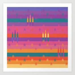 Bright Fields Pattern Art Print