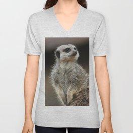 Meerkat Pose Unisex V-Neck