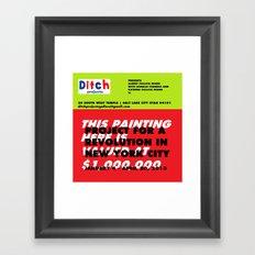 Ditch Projects Artforum Advertisement Framed Art Print
