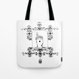 Hajichi - Okinawan Tattoo Circa 1899 - Traditional Women's Tribal Tattoo from Okinawa, Japan Tote Bag