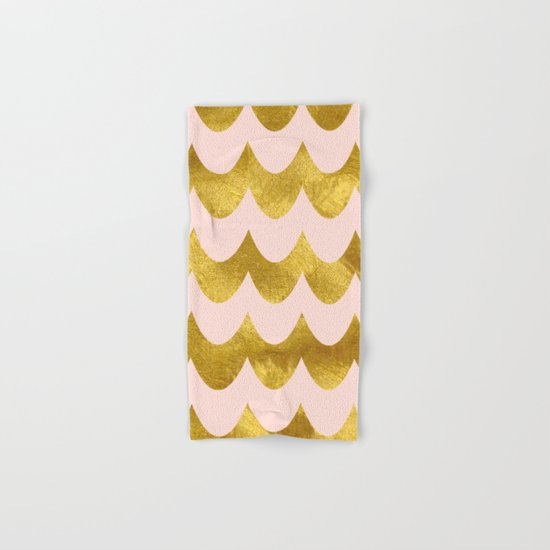 Pink Gold Foil 04 Hand & Bath Towel