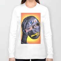 comic book Long Sleeve T-shirts featuring Comic Book Guy by Tyler Hewitt