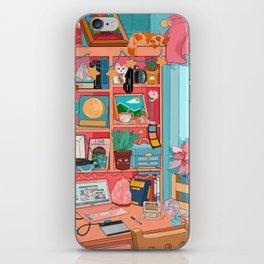 the artist's desk iPhone Skin