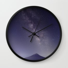 Mt. Fuji with the Milky Way Wall Clock