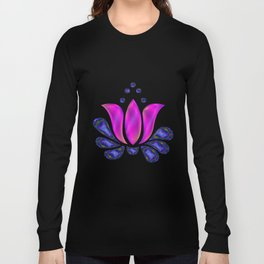Born of Lotus Abstract Art Long Sleeve T-shirt