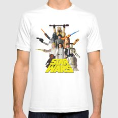 Star War Action Figures Poster - First 12 - Square MEDIUM Mens Fitted Tee White