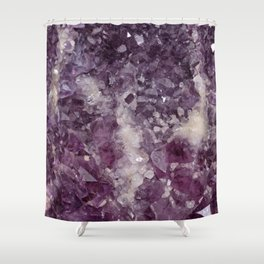 Deep Purple Quartz Crystal Shower Curtain