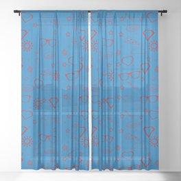 Supergirl/Kara's pattern - red Sheer Curtain