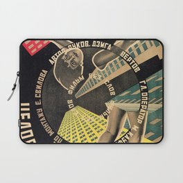 Man with a Movie Camera, vintage movie poster, 1929 Laptop Sleeve