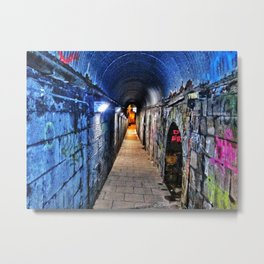 Grafitti Tunnel Metal Print