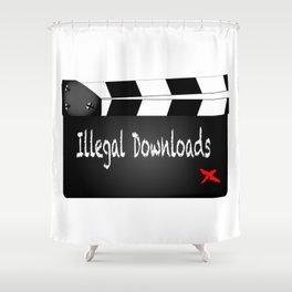 Illegal Downloads Clapperboard Shower Curtain