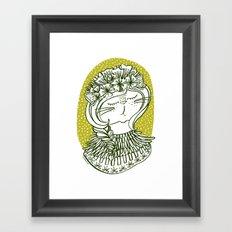 Spring Cat Lady  Framed Art Print