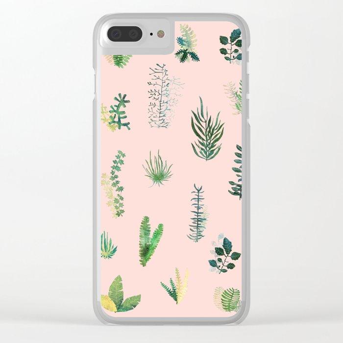 pink Garden Clear iPhone Case