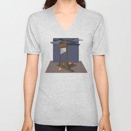 guillotined glance Unisex V-Neck