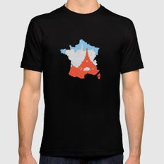 Paris - France MEDIUM Mens Fitted Tee Black