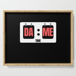 Dame Time Score Board Serving Tray