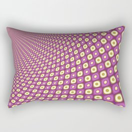 Groovy Pink Psychedelic Pattern Rectangular Pillow