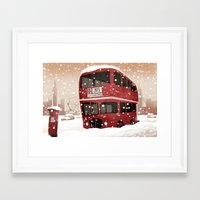 london Framed Art Prints featuring London   by Martynas Juchnevicius