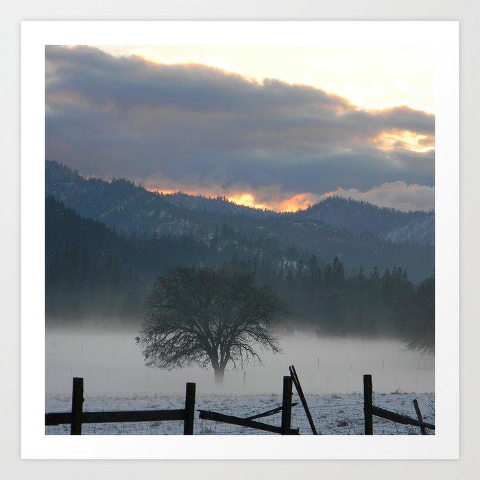 Misting Fog in the evening... Art Print