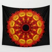phoenix Wall Tapestries featuring Phoenix by Mr. Pattern Man
