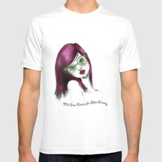 Will Give Kisses for Shoe Money MEDIUM White Mens Fitted Tee