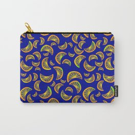 Oranges pattern on blue summer vibes bright juicy  Carry-All Pouch
