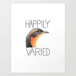 Happily Varied (Varied Thrush) Art Print
