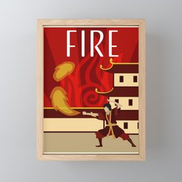 Zuko - Fire Framed Mini Art Print