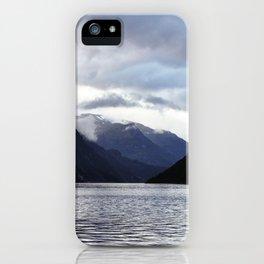 Inbetween Mountains iPhone Case