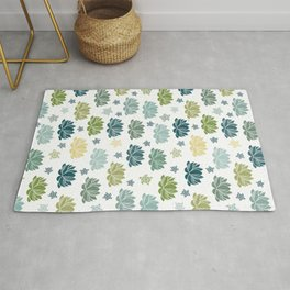 Lily Pond on white Rug