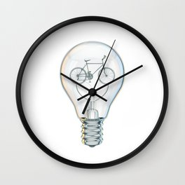 Light Bicycle Bulb Wall Clock
