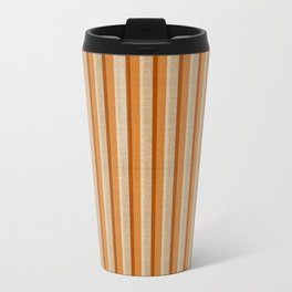 """Orange, Grey & Beige Deco Lines"" Travel Mug"