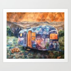 Cozy On Up Airstream Art Print